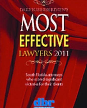 Michael Cotzen Most Effective Lawyer 2011